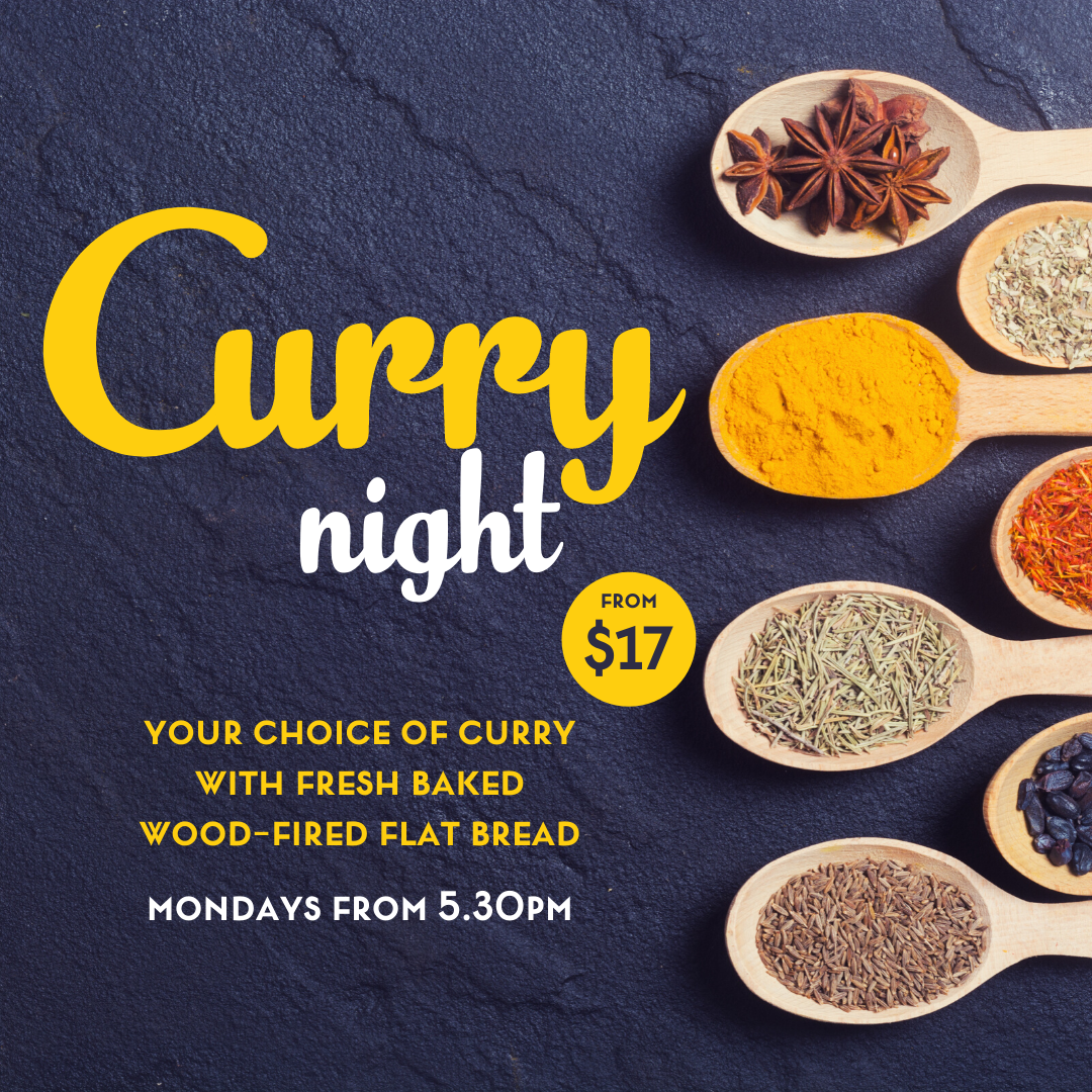 $17 Curry Night every Monday from 5.30pm