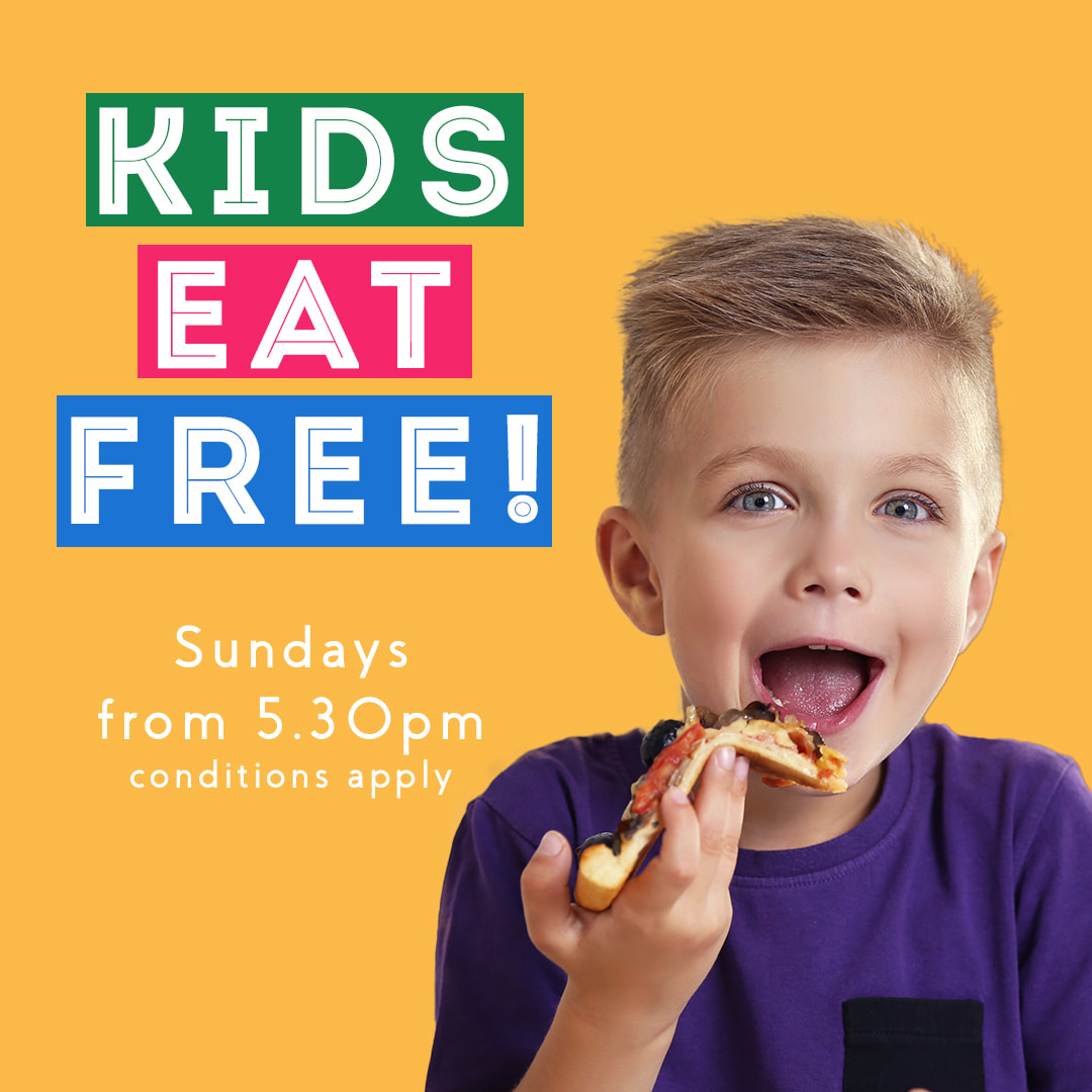 Kids Eat FREE every Sunday from 5.30pm